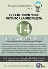 Presupuesto Participativo 2018 - El 11 de Noviembre Votá por la Propuesta 14